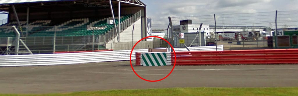 If you have to stop on circuit, try to stop near a gap in the barrier.