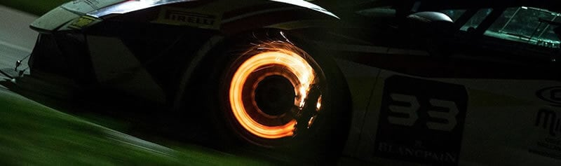 It's unlikely you'll have glowing carbon discs on your track day toy, but they do make for a great picture!