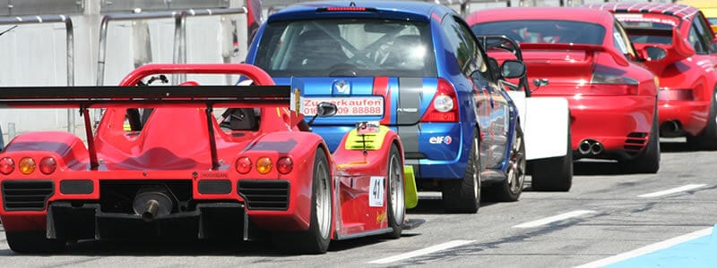 You can expect an interesting and varied array of cars on a track day.