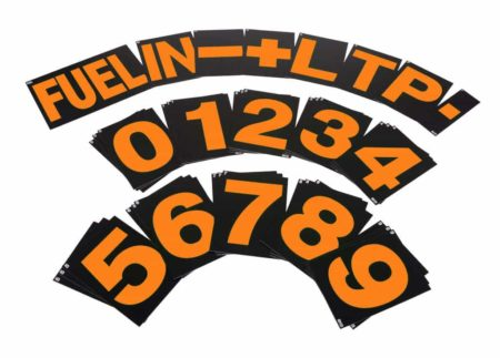 B-G Racing Standard Pit Board Number Set