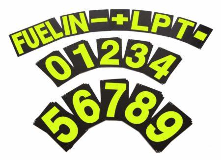 B-G Racing Large Pit Board Number Set