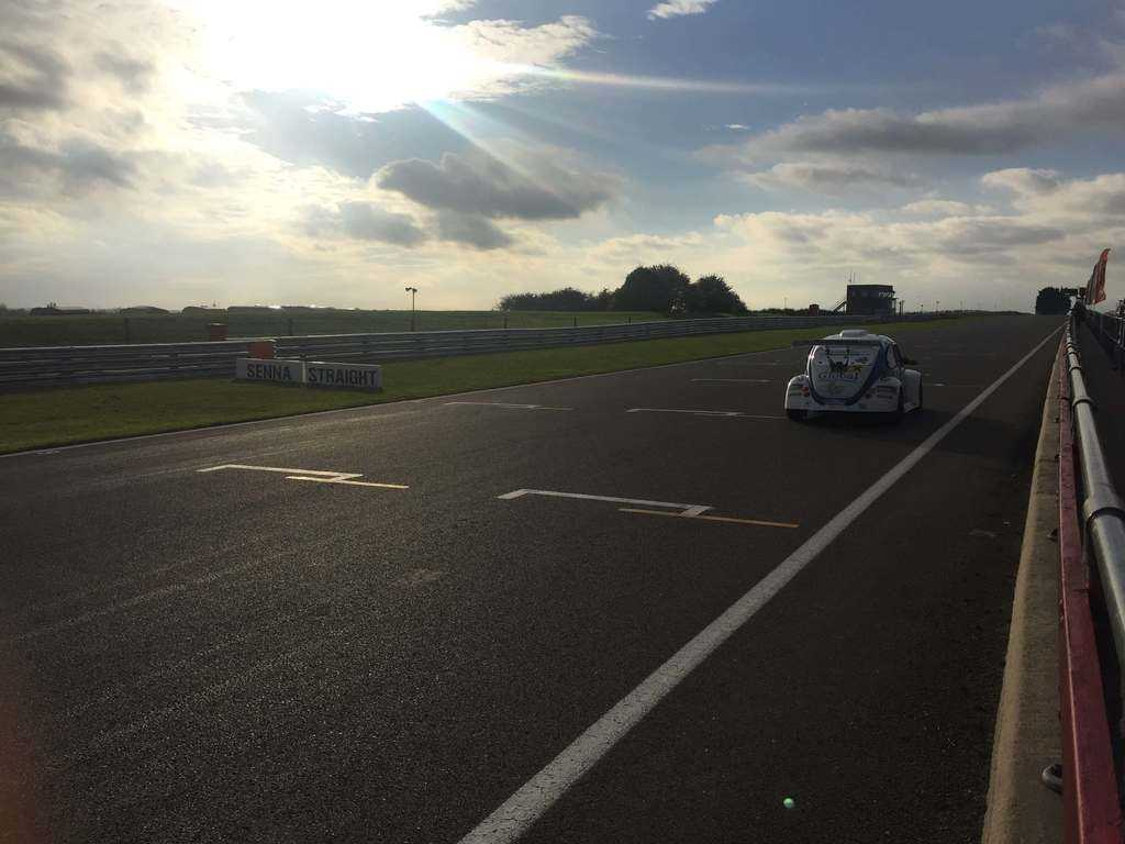 on track at snetteron in a funcup car