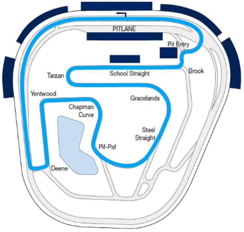 Rockingham ISSC Track Map
