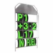 B-G Racing - Large Silver Aluminium Pit Board