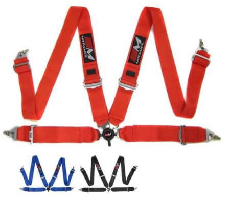"""Racing 4 Point Harness FIA Approved 3"""" Belt - Alloy Adjusters"""
