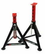 5 Tonne Pair Tubular Axle Stands H-Duty Professional Car Chassis Stand By Motamec
