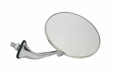 Classic Car 08A Side Door Wing Mirror X2 Chrome Round Lucas 046 Convex