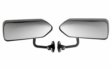 Racing 03 Formula Side Wing Mirror X2 Convex Glass Matt Black - F1 Car