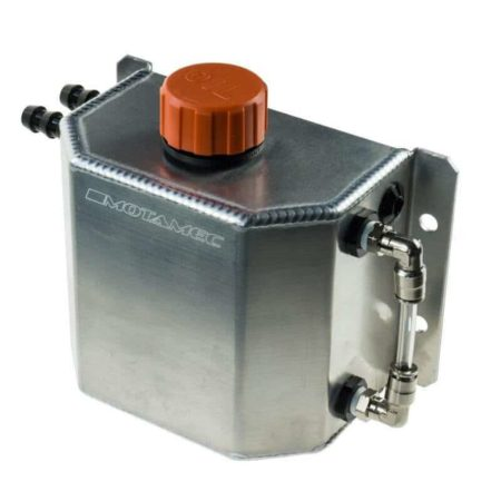 Alloy 1 Litre Oil Catch Tank With Breather Cap Anodized Plain aluminium