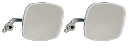 Classic Car 06 Side Door Wing Mirror X2 Chrome Steel Square