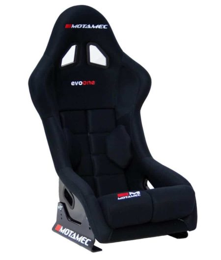 Racing Evo-One FIA Approved Race Seat Fiberglass Shell Side Mount BLACK