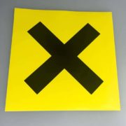 Racing Novice Cross Sticker Decal MSA Fia Race Track Black Yellow