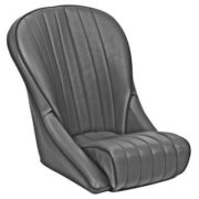 Roadster PS Seat Black Vinyl by Cobra