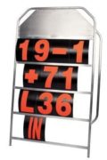 Large Pro Motorsport Racing 4 Row Pit Board Aluminium Alloy By Motamec