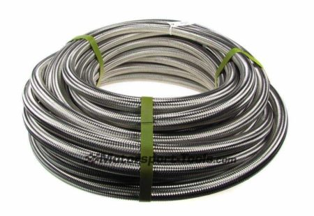 AN -20 AN20 JIC Stainless Steel Braided Hose Fuel Oil Coolant 1m Metre