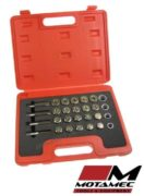 Tools Oil Drain Plug Sump Bolt Thread Repair Kit 24pc Set M13 - M20 Tap