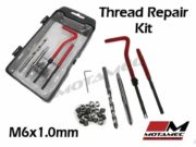 Tools M6 x 1mm Thread Repair Re thread helicoil insert Kit 25pc