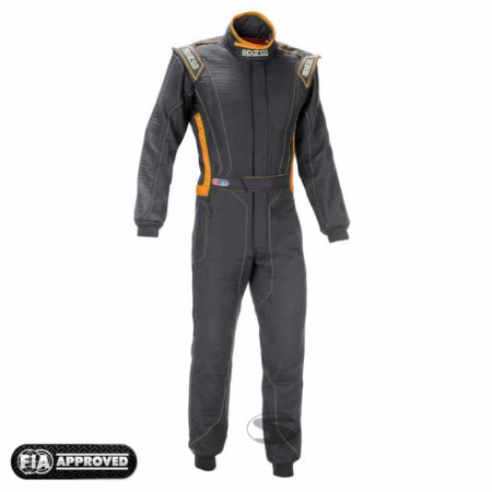 Sparco Victory RS-4 Race Suit in Black & Orange