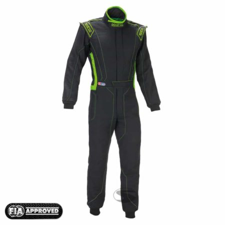 Sparco Victory RS-4 Race Suit in Black & Green
