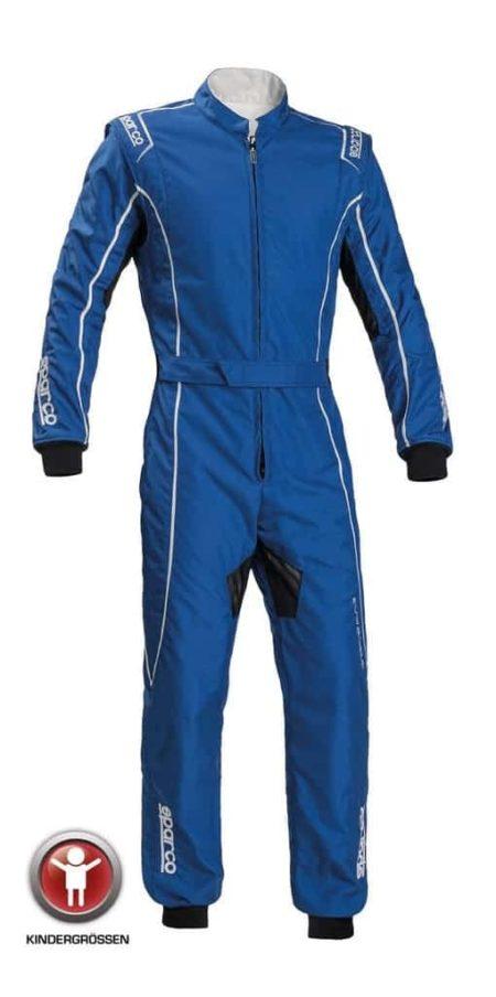 Sparco Groove KS-3 Children's Kart Suit in Blue