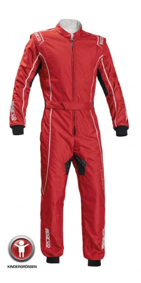Sparco Groove KS-3 Children's Kart Suit in Red