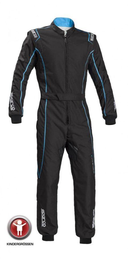 Sparco Groove KS-3 Children's Kart Suit in Black & Blue