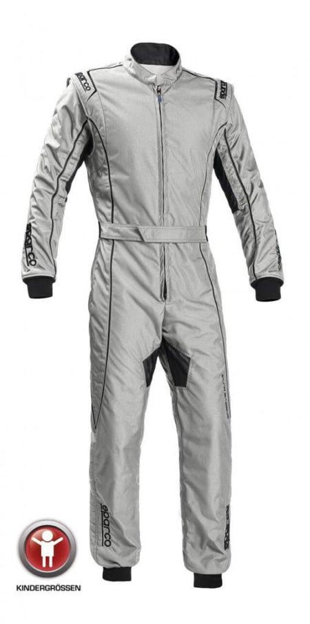 Sparco Groove KS-3 Children's Kart Suit in Silver & Black