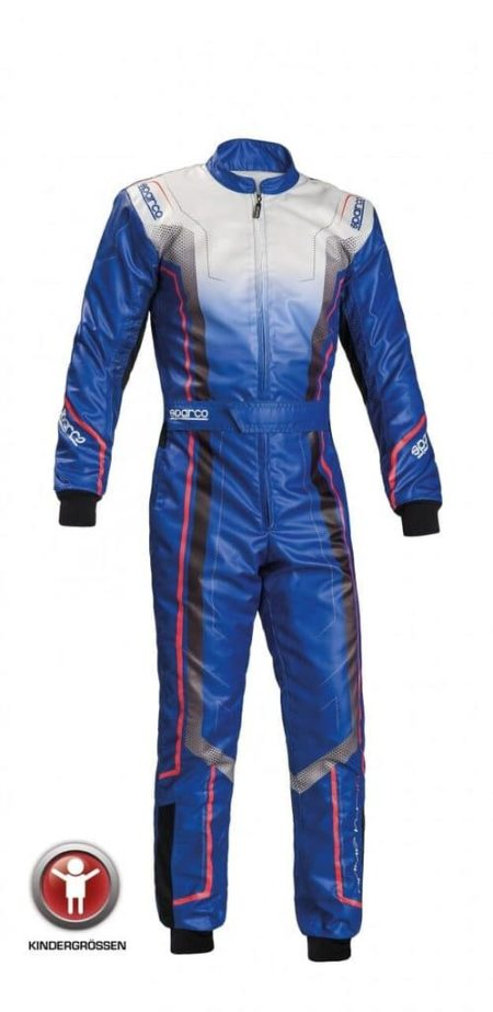 Sparco Prime KS-10 Kart Suit for Children in Blue