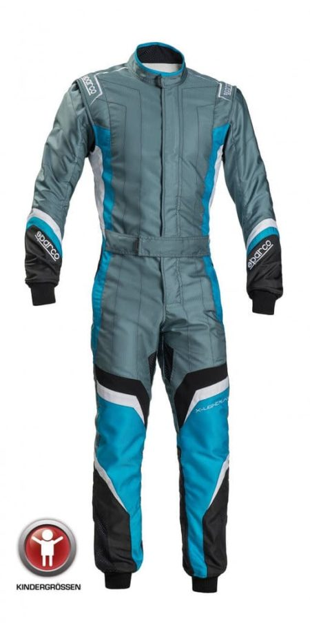 Sparco X-Light KS-7 Children's Kart Suit in Grey