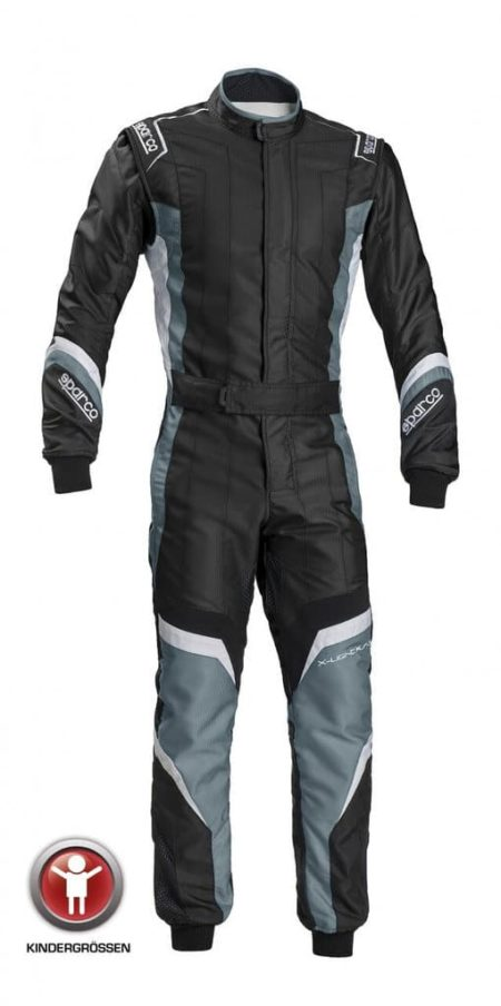 Sparco X-Light KS-7 Children's Kart Suit in Black