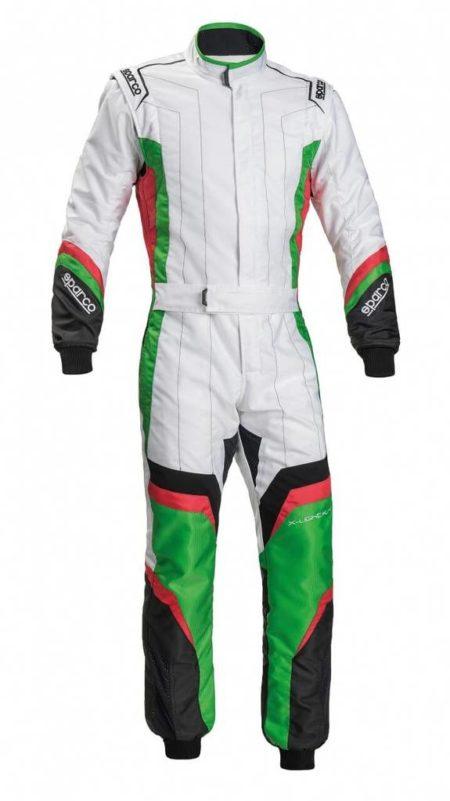 Sparco X-Light KS-7 Kart Suit in White & Green