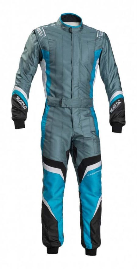 Sparco X-Light KS-7 Kart Suit in Grey & Blue