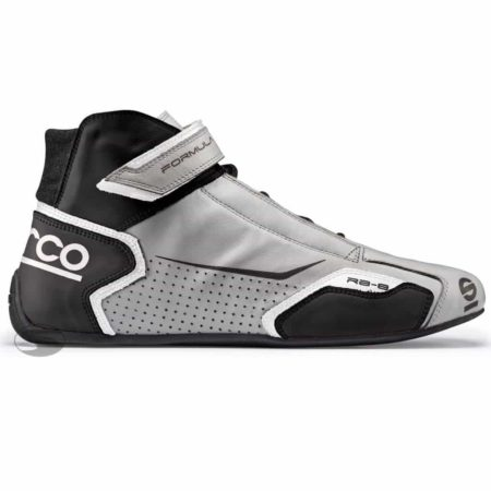 Sparco Formula RB-8 Race Boots in Silver & Black