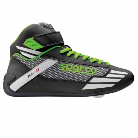 Sparco Mercury KB-3 Kart Boots in Black & Green