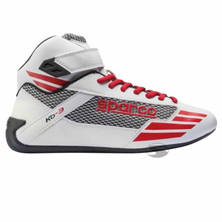 Sparco Mercury KB-3 Kart Boots in White & Red