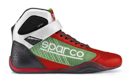 Sparco Omega KB-6 Kart Boots in Red & Green