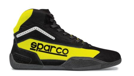 Sparco Gamma KB-4 Kart Boots in Yellow & Black