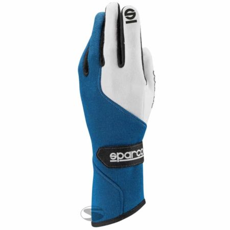 Sparco Force RG-5 Race Gloves in Blue & White
