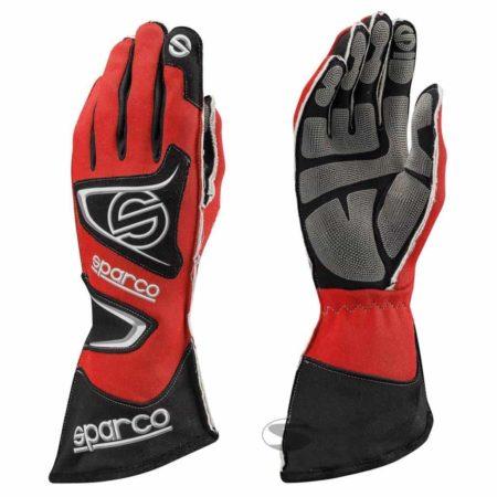 Sparco Tide KG-9 Kart Gloves in Red