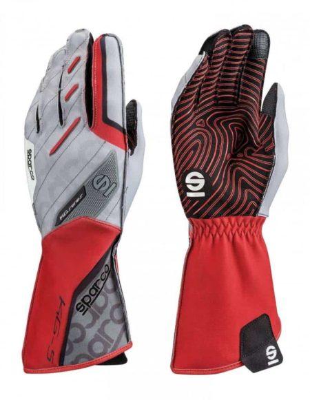 Sparco Motion KG-5 Kart Gloves in Red