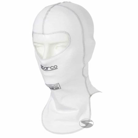 Sparco Shield RW-9 Open Face Fireproof Balaclava in White