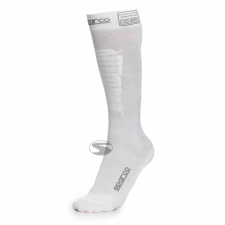 Sparco Flame Resistant Compression Socks in White