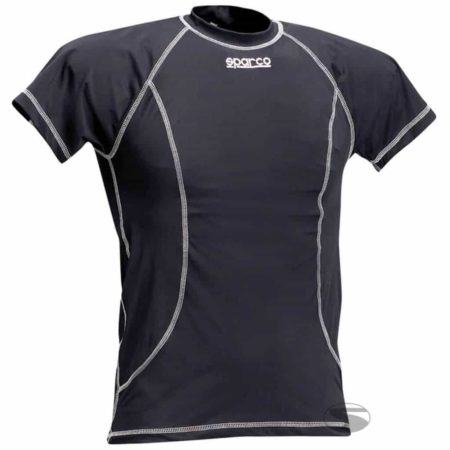 Sparco Short Sleeve Karting Top in Black
