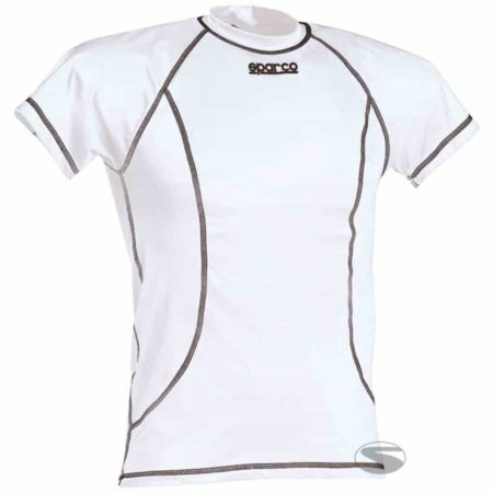 Sparco Short Sleeve Karting Top in White