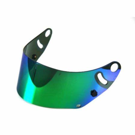 Arai Green Iridium Mirrored Visor For CK-6 Helmets