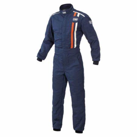 OMP Classic Race Suit in Navy Blue