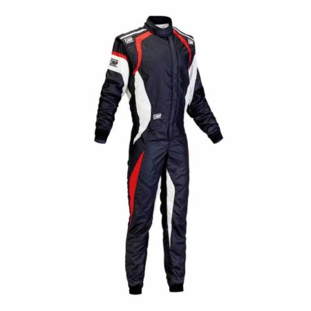 OMP One Evo Race Suit in Black & Red