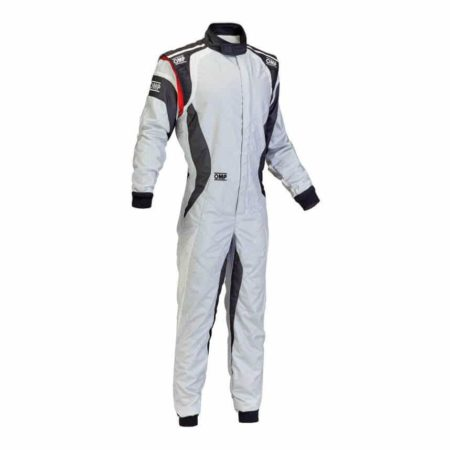 OMP One Evo Race Suit in White & Grey