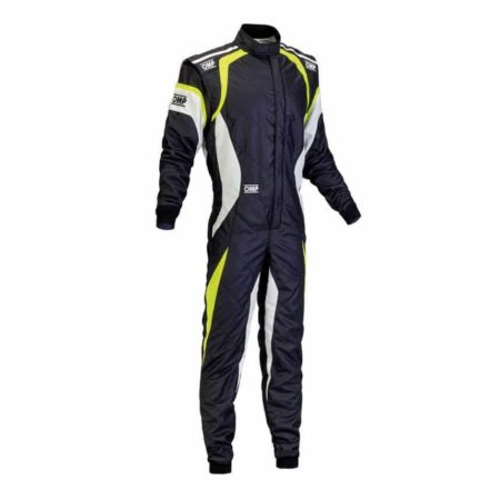 OMP One Evo Race Suit in Black & Yellow