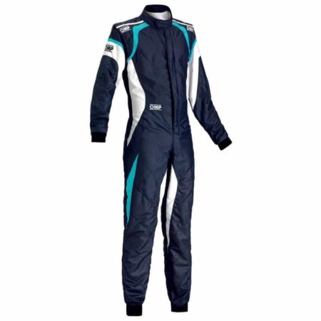 OMP One Evo Race Suit in Blue & Cyan